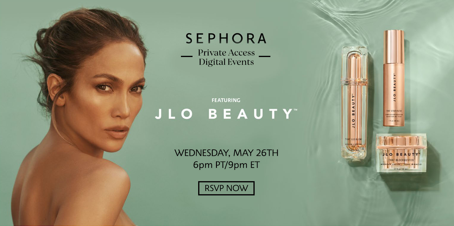 JLO Beauty Private Access Digital Event Banner